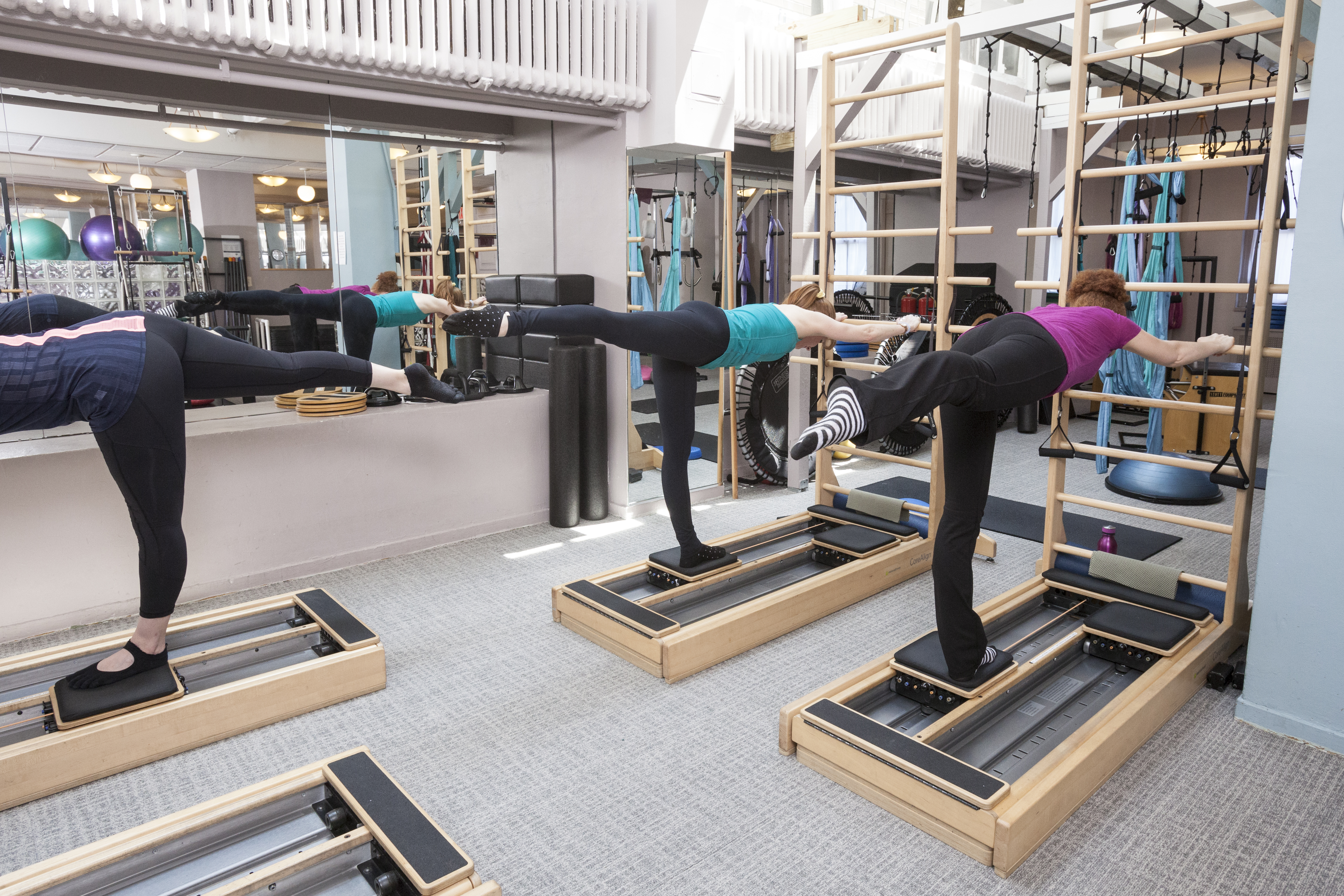 Group equipment classes are offered in Pilates Reformer & Chair,  SilkSuspensionTM and CoreAlign®. To provide the best instruction we can, we  limit our class ...