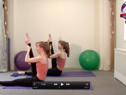 Pilates for a Dancer's Body -- the Dancer's Legs and Butt Workout on UPW