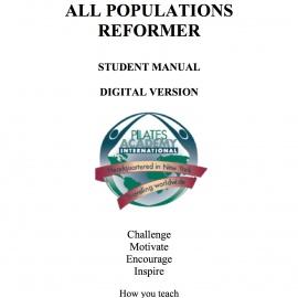 All Populations Reformer l Manual -- DIGITAL VERSION